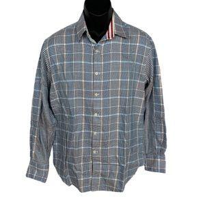 Robert Graham Check Stripe Cuff Button Up Shirt